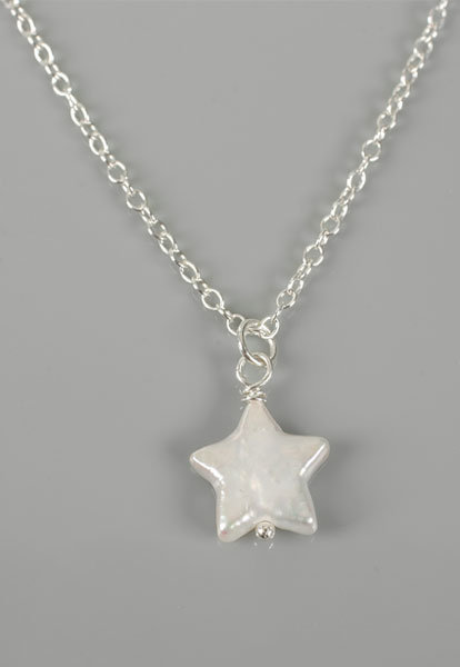 Morgan Jean Swami's Freshwater Pearl Star Necklace in Sterling Silver