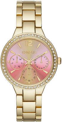 GENEVA Geneva Womens Pink Gold-Tone Bracelet Watch