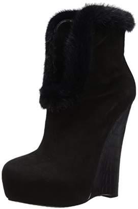 Alejandro Ingelmo Women's Wedge Bootie with Fur Cuff