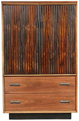 ... One Kings Lane Vintage Bassett Furniture Walnut Tall Dresser    2 B Modern