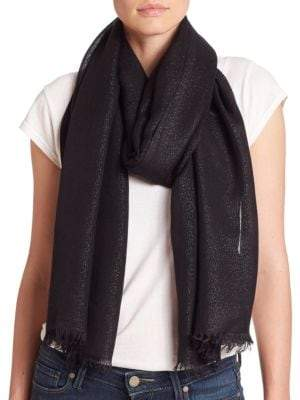 Lord & Taylor Shimmer Frayed Wrap
