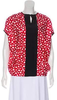 Louis Vuitton Polka Dot Cap Sleeve Blouse