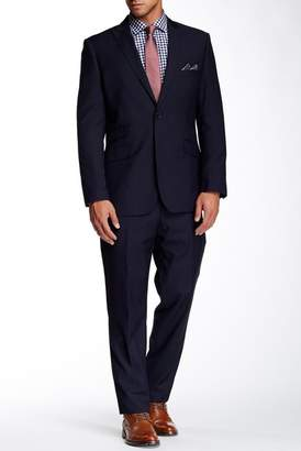 English Laundry Navy Sharkskin Two Button Peak Lapel Suit $395 thestylecure.com
