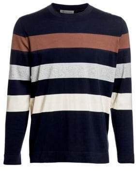 Brunello Cucinelli Stripe Cotton Crewneck Sweater