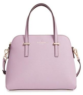 Kate Spade New York 'Cedar Street - Maise' Leather Satchel - Purple $298 thestylecure.com
