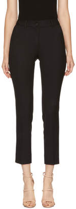 Dolce & Gabbana Black Slim Cropped Trousers