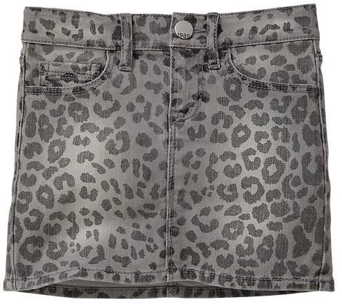 Gap 1969 Leopard Denim Mini Skirt