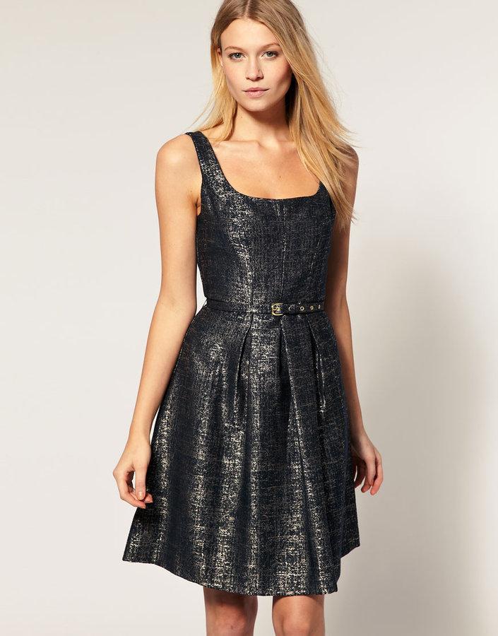 Oasis Metallic Tailored Dress