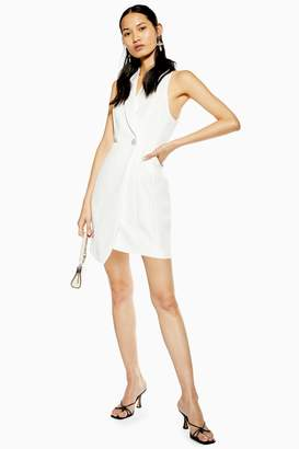4ac644b8703 Topshop Womens Tuxedo Dress - White