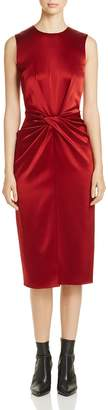 Donna Karan Twist Front Silk Dress