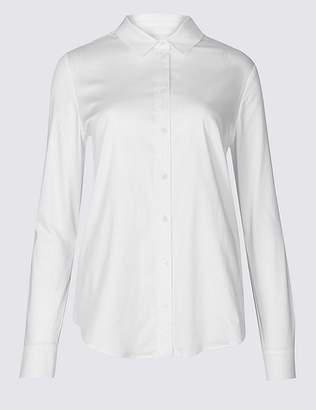Marks and Spencer Cotton Rich Stretch Perfect Shirt