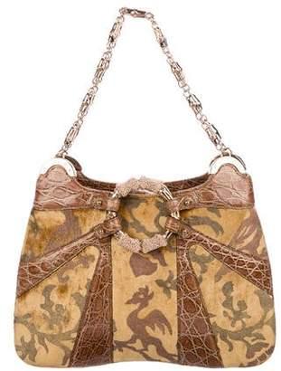 Gucci Crocodile & Velvet Bag