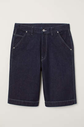 H&M Loose Fit Skater Shorts - Blue