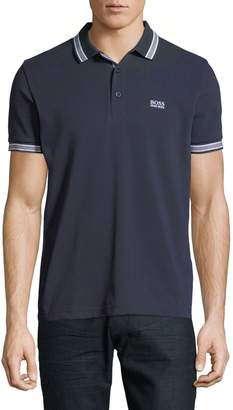 BOSS Paddy Polo with Striped Trim