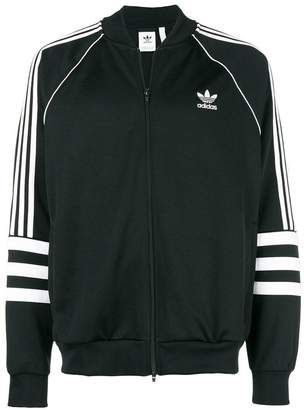adidas stripe print zip jacket