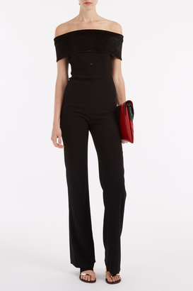 GALVAN Velvet Off-Shoulder Jumpsuit