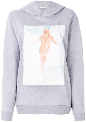 Christopher Kane watercolour paint print hoodie