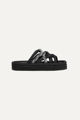 Rag & Bone Kris Corded Canvas Platform Sandals - Black