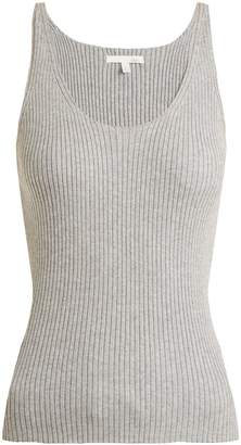 SKIN Valerie ribbed-knit cotton-blend cami top