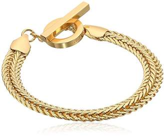 At Anne Klein Clics Tone Flat Chain Flex Bracelet