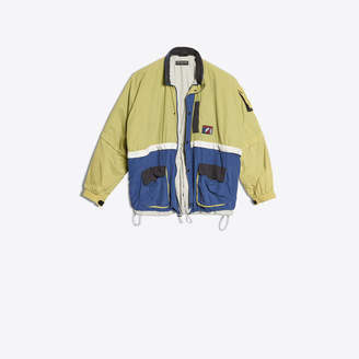 Balenciaga Zipped parka with reflecting bands
