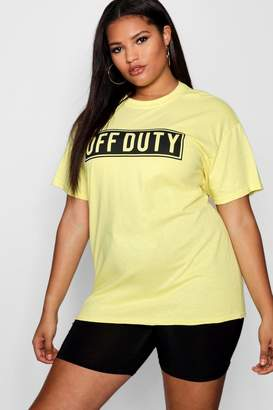 boohoo Plus Off Duty Oversized Tee