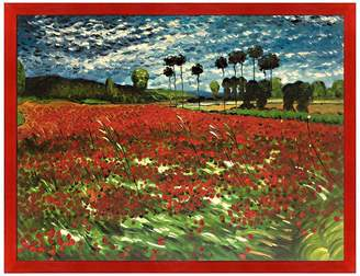 Field of Poppies Framed Painting by Vincent Van Gogh