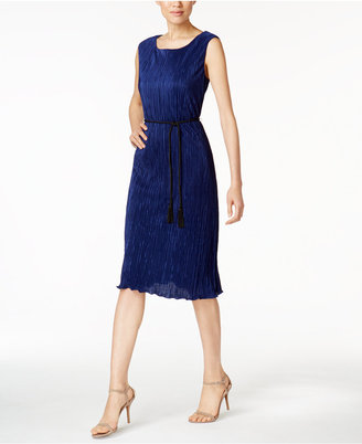 Connected Pleated Tassel-Belt Dress $69 thestylecure.com