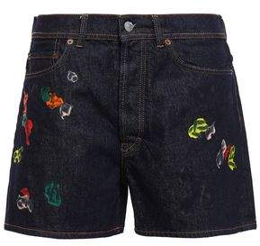 Acne Studios Swamp Painted Denim Shorts
