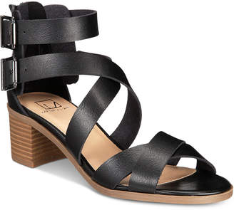 Material Girl Danee Block Heel City Sandals, Created for Macy's Women's Shoes