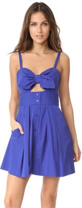 Milly Jordan Tie Mini Dress $385 thestylecure.com
