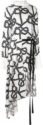 Monse rope patterned shirt dress