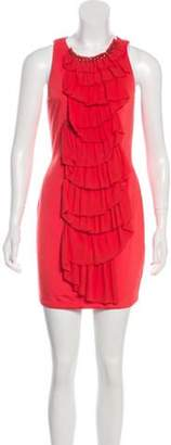 3.1 Phillip Lim Ruffle-Accented Mini Dress w/ Tags Orange Ruffle-Accented Mini Dress w/ Tags