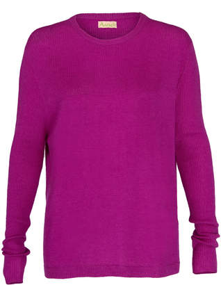 Asneh - Beverly Purple Cashmere Sweater With Rib Details