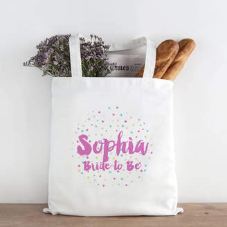 Hurley Sarah Personalised Confetti Bride To Be Tote Bag