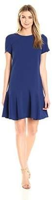 Lark & Ro Amazon Brand Women's Short Sleeve Ruffle Hem Dress
