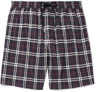Burberry Mid-Length Checked Swim Shorts