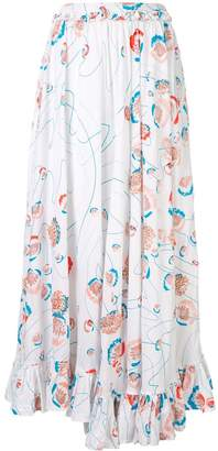 All Things Mochi long floral print skirt