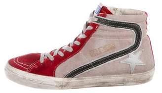 Golden Goose Distress Round-Toe Sneakers