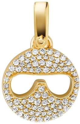 Michael Kors Sterling Silver Crystal Sunglass Emoji Charm
