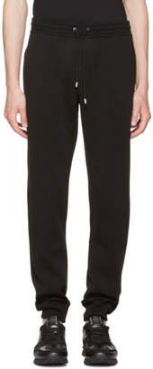 Versace Black Embroidered Medusa Lounge Pants