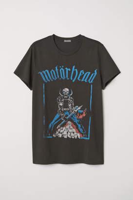 H&M Cotton Jersey T-shirt - Gray