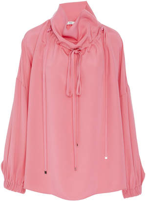 Tibi Silk Long Sleeve Blouse