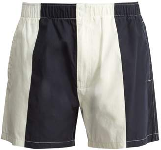 Saturdays NYC Trent contrast-panel swim shorts