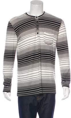 En Noir Striped Henley T-Shirt