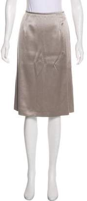 Giorgio Armani Silk & Wool-Blend Skirt w/ Tags