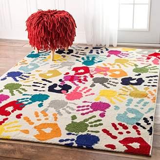 nuLoom Handprint Collage Kids Nursery Area Rugs