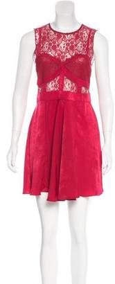 Free People Lace-Paneled Mini Dress w/ Tags