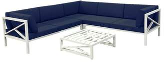 Rosecliff Heights Miller Patio Sectional with Cushion Cushion