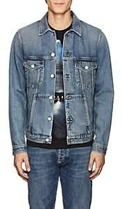 Givenchy Men's Logo-Embroidered Denim Jacket - Blue